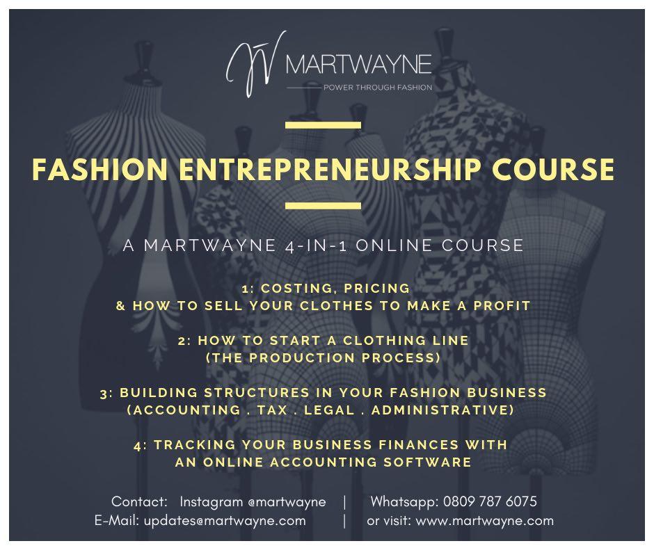 Fashion Entrepreneurship Course