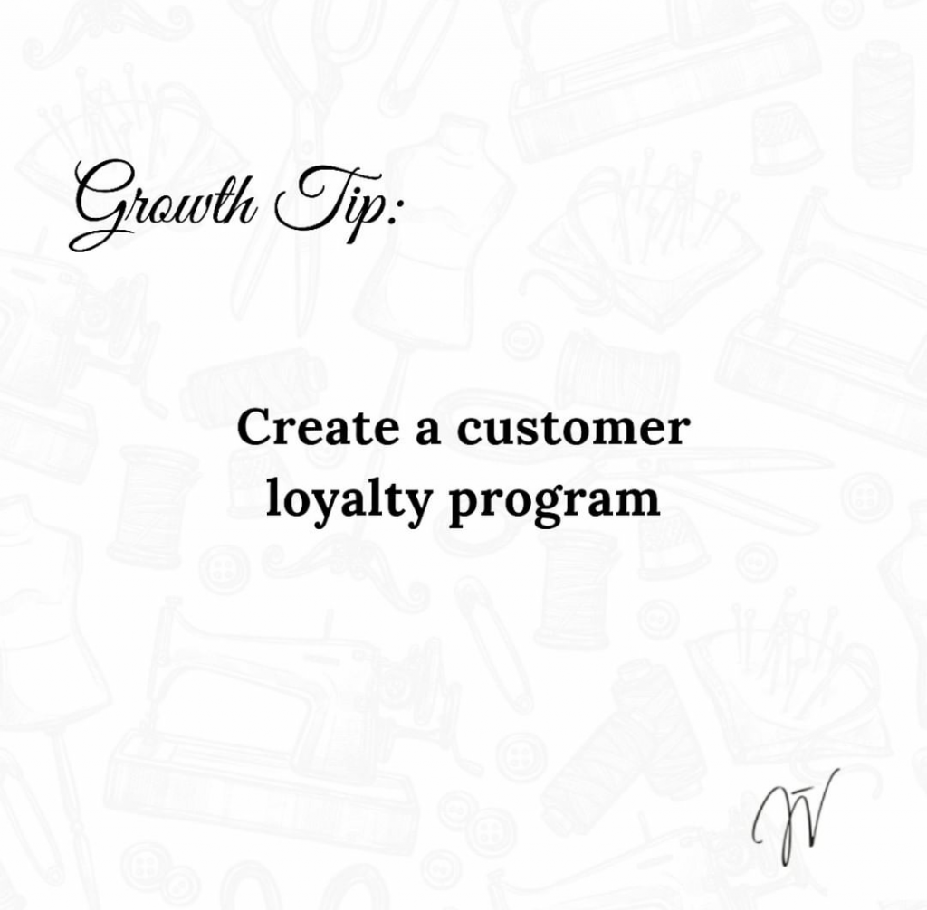 Fashion Business Tip: Create a customer loyalty programme