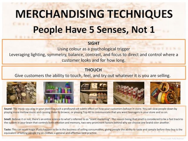 people have 5 senses not 1 - visual merchandising