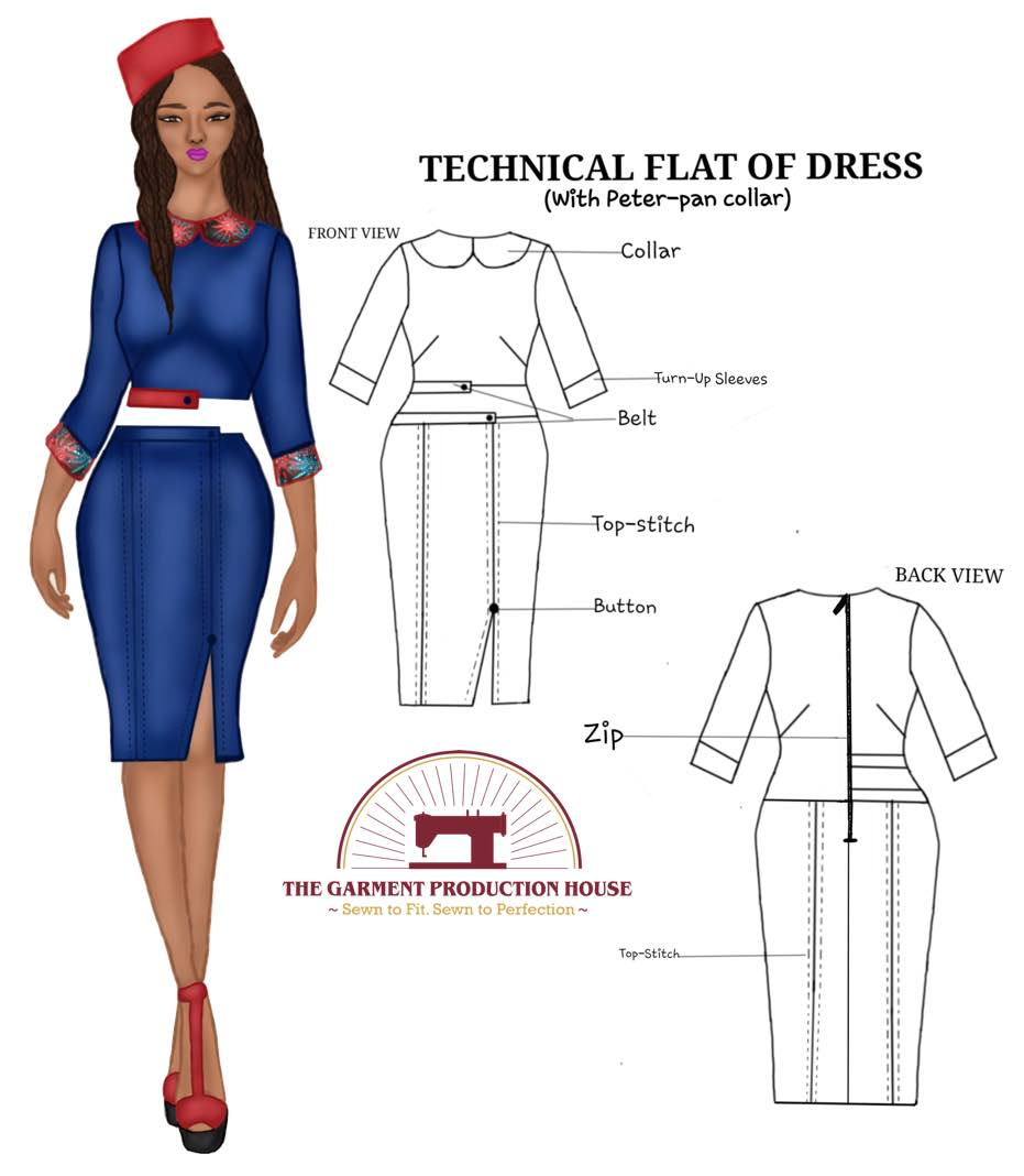 Fashion Sketch |Flat Sketch | Technical Drawing for Fashion