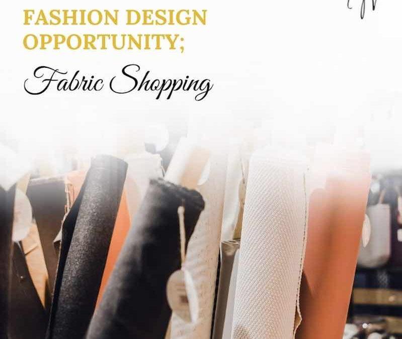 Fashion Business Ideas – Fabric Shopping