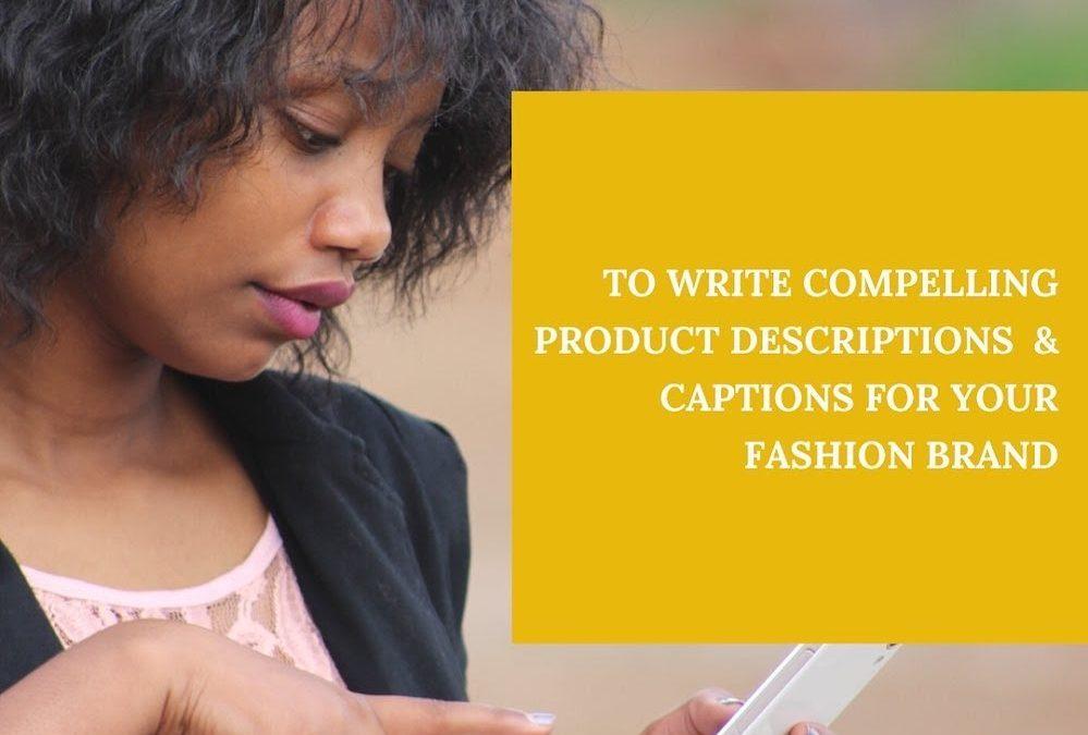 Write a compelling product description