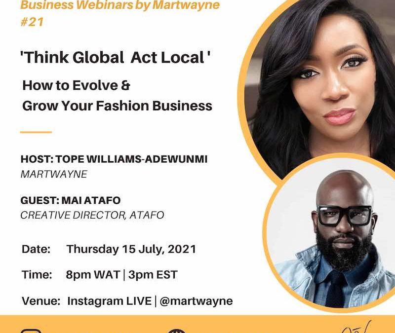 Think Global Act Local with Mai Atafo