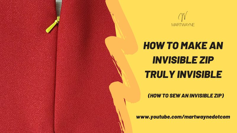 How to Sew an Invisible Zipper Step by Step | Youtube Video
