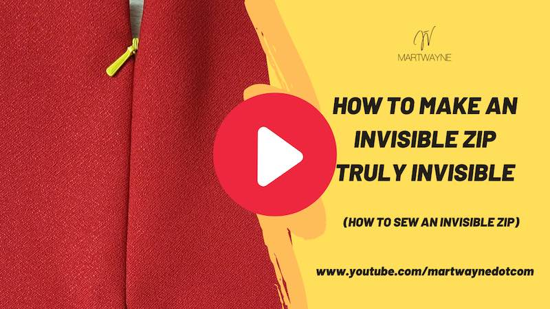sewing invisible zipper